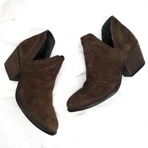 Steve Madden Aliee Green Suede Cutoff Ankle Boots